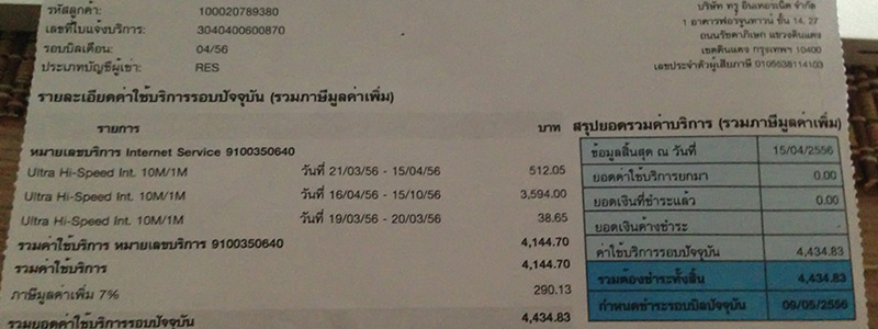 Bangkok Apartment Nebenkosten
