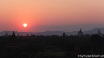Traumhafter Sonnenuntergang in Bagan
