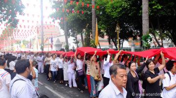Eröffnungszeremonie am Golden Mount beim Wat Saket
