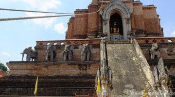 Wat Chedi Luang in der Altstadt von Chiang Mai