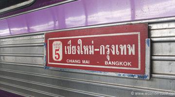 Nachtzug von Chiang Mai nach Bangkok