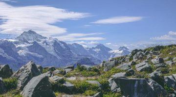 Auf Höhenwanderung bei Grindelwald in der schönen Schweiz