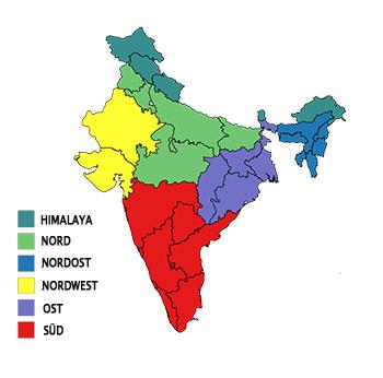 indien klima map