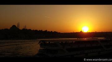 istanbul galata brige sonnenuntergang
