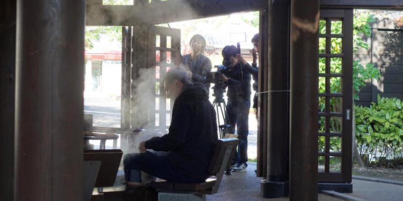 Unterwegs in Beppu für einen TV Sender in Japan