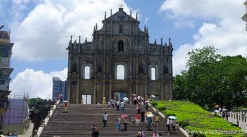 Die portugiesische Altstadt von Macau