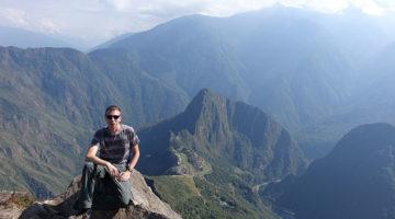 Hoch oben auf dem Gipfel des Machu Picchu