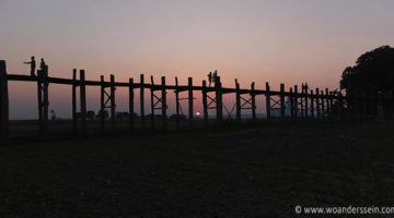 Sonnenuntergang an der U Bein Brücke – Mandalay Teil 3