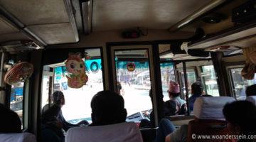 Mit dem Bus zurück nach Kathmandu