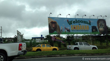 sandakan welcome schild