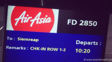 Mit AirAsia von Bangkok nach Siem Reap