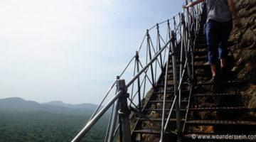 Löwenfelsen Sigiriya, viele Treppen aber eine super Aussicht