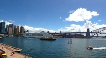 sydney harbour bridge pano