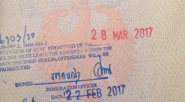 Thailand Touristenvisum in Bangkok verlängern