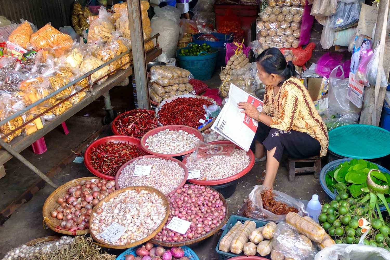 Gemüsemarkt in Thailand