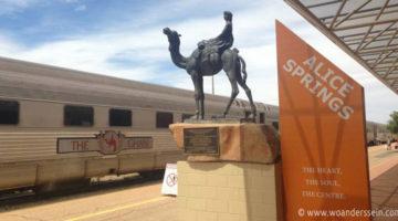 Mit dem Zug The Ghan von Adelaide nach Alice Springs